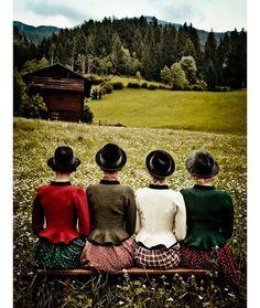 "Alpine love  with Lena Hoschek Tradition. The girls wear my classic ""Fritzi Walkjanker"" photo taken at my mum's birthplace Döllach im Mölltal - Well worth a visit!! ♥️ #lupispumafinephotography #lenahoschektradition #alps #austria #tradition #dirndl #soundofmusic #roots #iamfromaustria #lenahoschek #shoponline"
