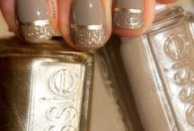 gold stripe and glitter