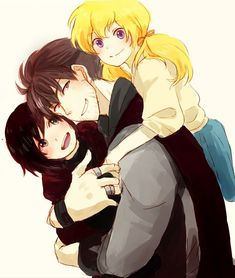 Uncle Qrow and his nieces from RWBY