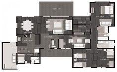 casa de un piso de 160 m2, plano