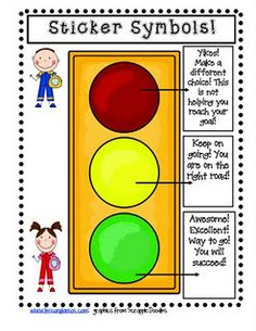 This is a picture of Refreshing Red Yellow Green Behavior Chart Printable