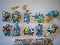 KINDER SURPRISE SET - FUNNY FANTEN BEACH ELEPHANTS 1995 - FIGURES COLLECTIBLES #KinderSurpriseFerrero