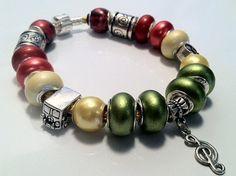 Bob Marley Themed European Charm Bracelet on Etsy, $5.00