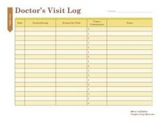 Free Household Notebook with 36 Printables: Doctor's Visit Log