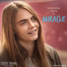 @papertownsmovie - instagram:  Who is your miracle? #MargoMondays