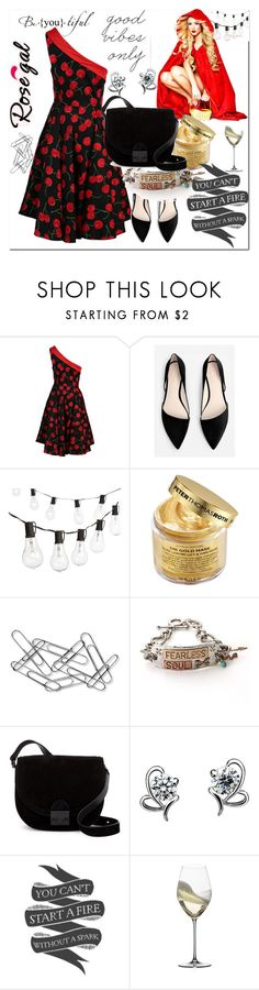 """""""Good#Vibes#Rosegal"""" by bamra ❤ liked on Polyvore featuring MANGO, Crate and Barrel, Peter Thomas Roth, Home Decorators Collection, Loeffler Randall, Riedel, Urban Outfitters and vintage"""