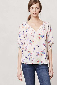 Anthropologie - Giverny Garden Peasant Top