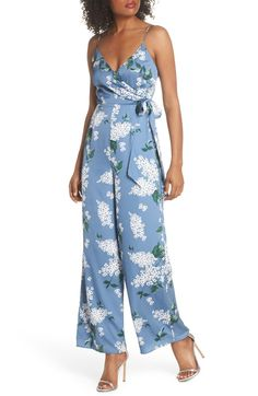This Moment Floral Jumpsuit,                         Main,                         color, Dusty Blue Floral