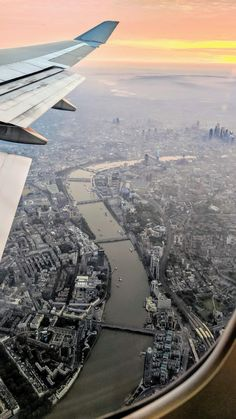 London, coming through the morning fog from a window of a 747 via CityPorn City Aesthetic, Travel Aesthetic, Airplane Window View, Plane Photos, London View, Airplane Photography, View Wallpaper, New York City Travel, Nature Posters