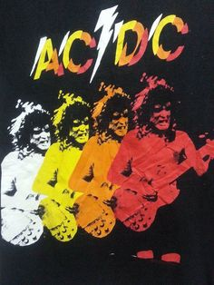 SALE Rare AC DC Rock And Roll Band TShirt by SuzzaneVintage