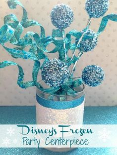 Frozen Inspired Party Theme Idea- A Cool Centerpiece