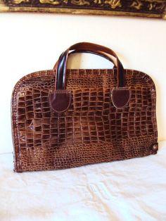 Vintage Gun Case Cover Bag Crocodile Skin by primitivepincushion, $34.99