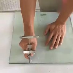 Easy Glide Glass & Tile Cutter, Cutter for Thick Glass Mosaic and Tiles, Glass Cutter Cutting Tool with Handle, Perfect for Cutting & Separate (White) Best Picture For Woodworking T Tile Cutter, Glass Cutters, Construction Tools, Cool Gadgets To Buy, Diy Home Repair, Scroll Saw Patterns, Work Tools, Cool Inventions, Useful Life Hacks