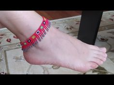 Beaded Anklets, Beaded Choker, Seed Bead Tutorials, Beading Tutorials, Beaded Bracelets Tutorial, Handmade Beaded Jewelry, Bead Jewellery, Beads And Wire, Ankle Bracelets