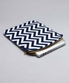 Zigzag Laptop Sleeve by Mud Pie Collection on #zulily today!