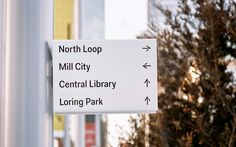 Nicollet by Pentagram, United States. #sign #design