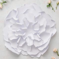 Large DIY Paper Peony Décor Flower White