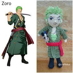 Amigurumi one piece zoro