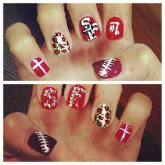 I love the colors! #49er nails