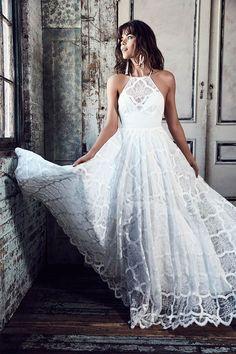 "Halter neck wedding dress - Grace loves lace Wedding Dresses ""BLANC"" New Bridal collection"