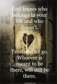 put your trust in God