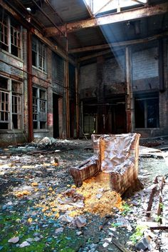 Abandoned Beauty - Urban Decay Photography by Irina Souiki-wish I could stage a scene like that!