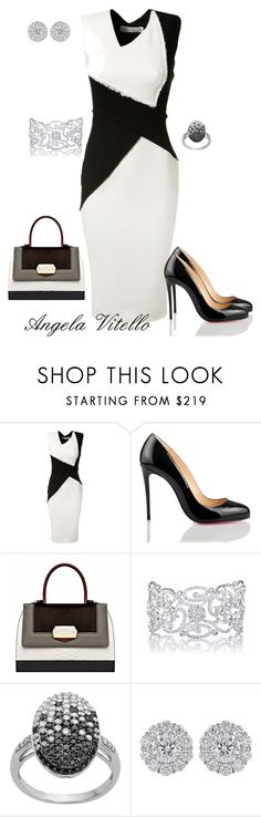 """Untitled #552"" by angela-vitello ❤ liked on Polyvore featuring Victoria Beckham, Christian Louboutin and The Volon"