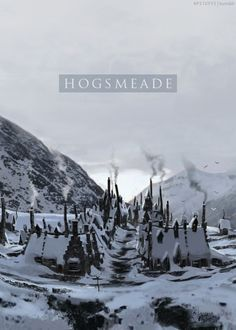 Hogsmeade. This makes me wish it was always fall/winter and able to just sit in comfy clothes and a blanket with my harry potter books sipping hot chocolate and reading these without interruptions forever and ever....sigh. childhood <3