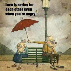 Love is caring for each other even when you're angry. #quotes