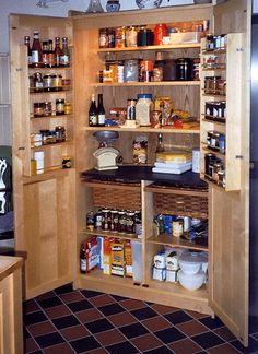 Standing Pantry on Pinterest | Free Standing Pantry, Hickory Kitchen ...
