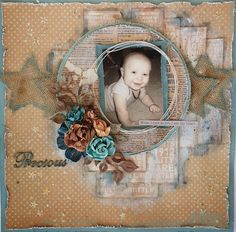 Swirlydoos Scrapbook Kit Club: Another Artful Blues Layout with Tutorial with Rae