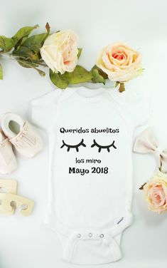 Spanish onesie to let the abuelitos know you are expecting! Click above to shop free shipping!