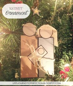 Paper Nativity Ornament Craft with Free Printable