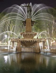 The Archibald Fountain, widely regarded as the finest public fountain in Australia, is located in Hyde Park, Sydney, New South Wales. Most Beautiful, Beautiful Places, Parks, Garden Fountains, Water Fountains, Waterfall Fountain, By Any Means Necessary, Fountain Of Youth, Dream City