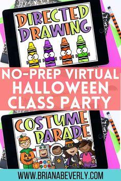 Classroom Halloween Party, Halloween Party Games, Halloween Activities, 4th Grade Classroom, Classroom Ideas, Class Games, Virtual Class, Preschool Class, Party Activities