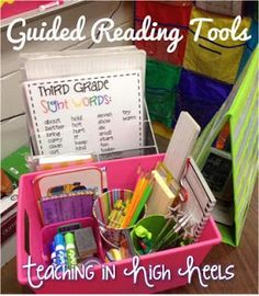 Classroom Organization and Decor- Setting up for small group- tips and hacks for back to school set up- setting up for guided reading or small group area with organization hacks and freebies Small Group Reading, Guided Reading Groups, Reading Centers, Reading Lessons, Reading Workshop, Reading Activities, Literacy Centers, Reading Mastery, Spelling Activities