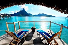 Overwater Bungalow, Le Meridien Bora Bora.  (click the photo, there's 14 more hi-res pics and a video too)
