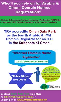 TRA accredited http://Omandatapark.com  as an authorized Arabic & .OM Domain Registrar in the Sultanate of Oman. Provides entire of its Data Centre Services all over the GCC.