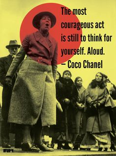 Think courageously. Then speak your mind.