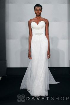 Bridal Gowns: Mark Zunino Sheath Wedding Dress with Sweetheart Neckline and Natural Waist Waistline Designer Gowns, Designer Wedding Dresses, Bridal Dresses, Bridesmaid Dresses, Gown Gallery, Wedding Dress Gallery, Bridal Closet, Plus Size Wedding Gowns, Mark Zunino