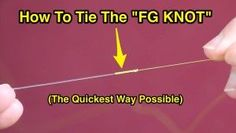 how to tie the FG knot
