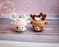 Christmas Deer Cupcake Amigurumi - Free English Pattern