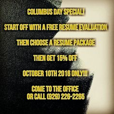 #columbusday #supportsmallbusinessess #sincerelyprofessional #resumeservices #newjobnewlife