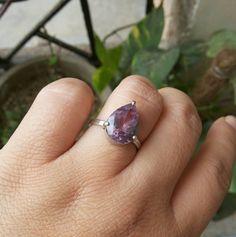 Amethyst Ring - Purple ring - Prong ring - Prong set ring - February