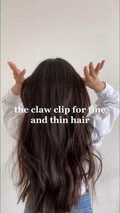 Messy Hairstyles, Summer Hairstyles, Dark Brown Hair Dye, Hair Tips Video, Hair Growing Tips, Triangle Hair, Diy Hair Care, Hair Designs, Hair Looks
