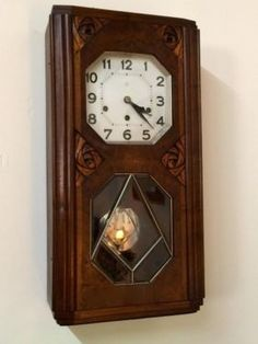"Wall Clock   26"" High x 13.5"" Wide x 6.5"" Deep  $250  Rubbish Designer Vintage Finds Dealer #3501  Lucas Street Antique Mall 2023 Lucas Dr. Dallas, TX 75219  Like us on Facebook: https://"
