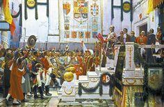 La proclamación de la Constitución de 1.812, de Salvador Viniegra.