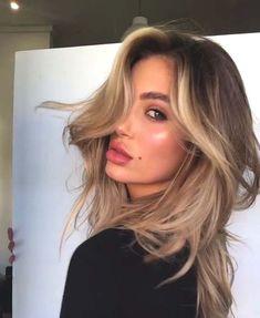 Haircut Ideas Medium Thin Hair Once in a while struggle to head to hair salons Medium Thin Hair, Medium Hair Styles, Curly Hair Styles, Medium Blonde, Summer Haircuts, Thin Hair Haircuts, Baddie Hairstyles, Summer Hairstyles, Bronde Hair