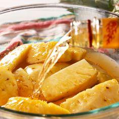 Steamed dumplings with lemon confit, quinoa couscous - Healthy Food Mom Grilled Pineapple Recipe, Grilled Fruit, Pineapple Recipes, Fruit Recipes, Healthy Recipes, Roasted Pineapple, Grilled Desserts, Alcohol Recipes, Mangonada Recipe