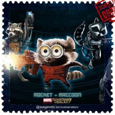 Guardians of the Galaxy Minions ~ Rocket-Racoon